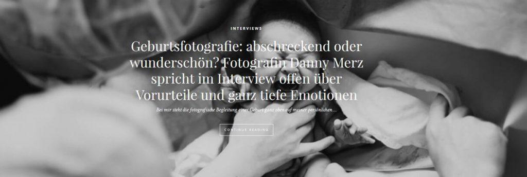 Interview über Geburtsfotografie